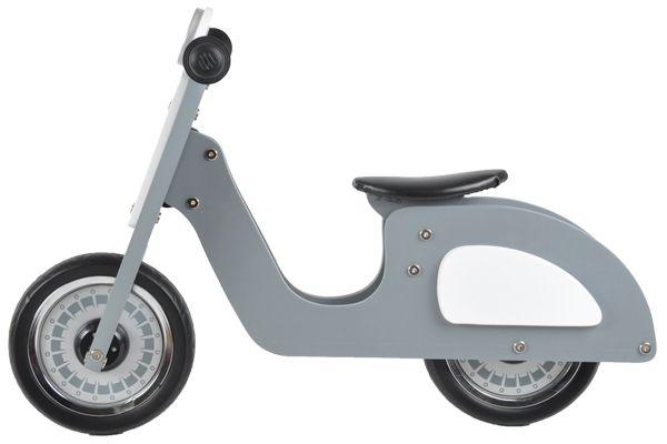 Loopscooter Italian rider grijs