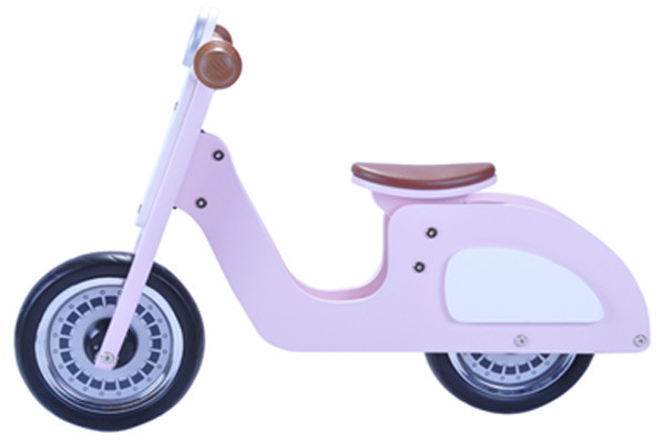 Loopscooter Italian rider roze