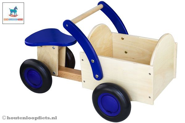 Classic bakfiets blauw - blank