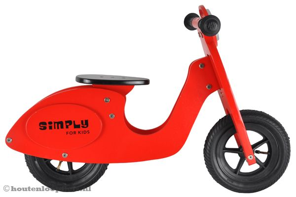 Onwijs gaaf model scooter loopfiets.
