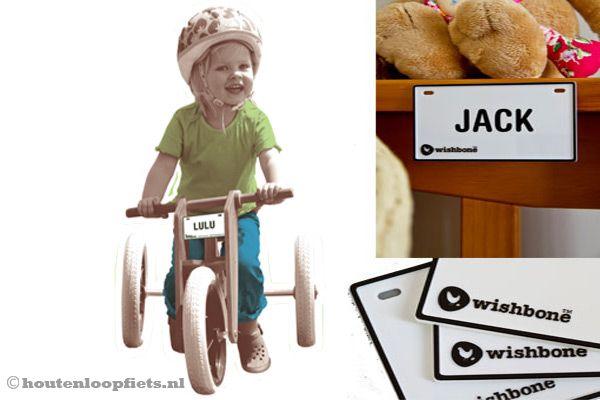 Wishbonebike naamplaatje