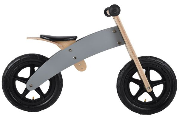 Houten loopfiets Grey Bandit 2in1.