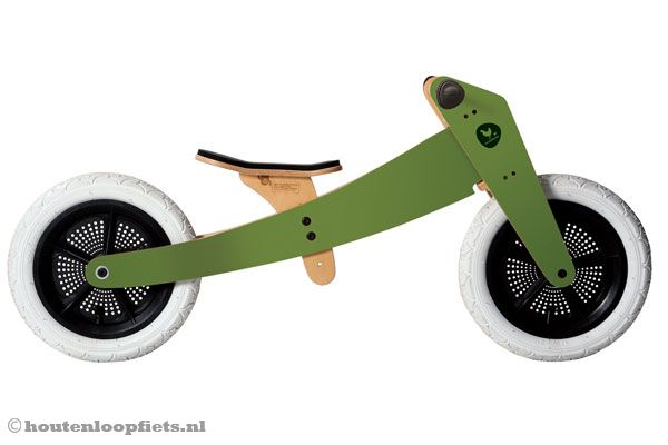 Wishbonebike groen 2 in 1 Limited Edition
